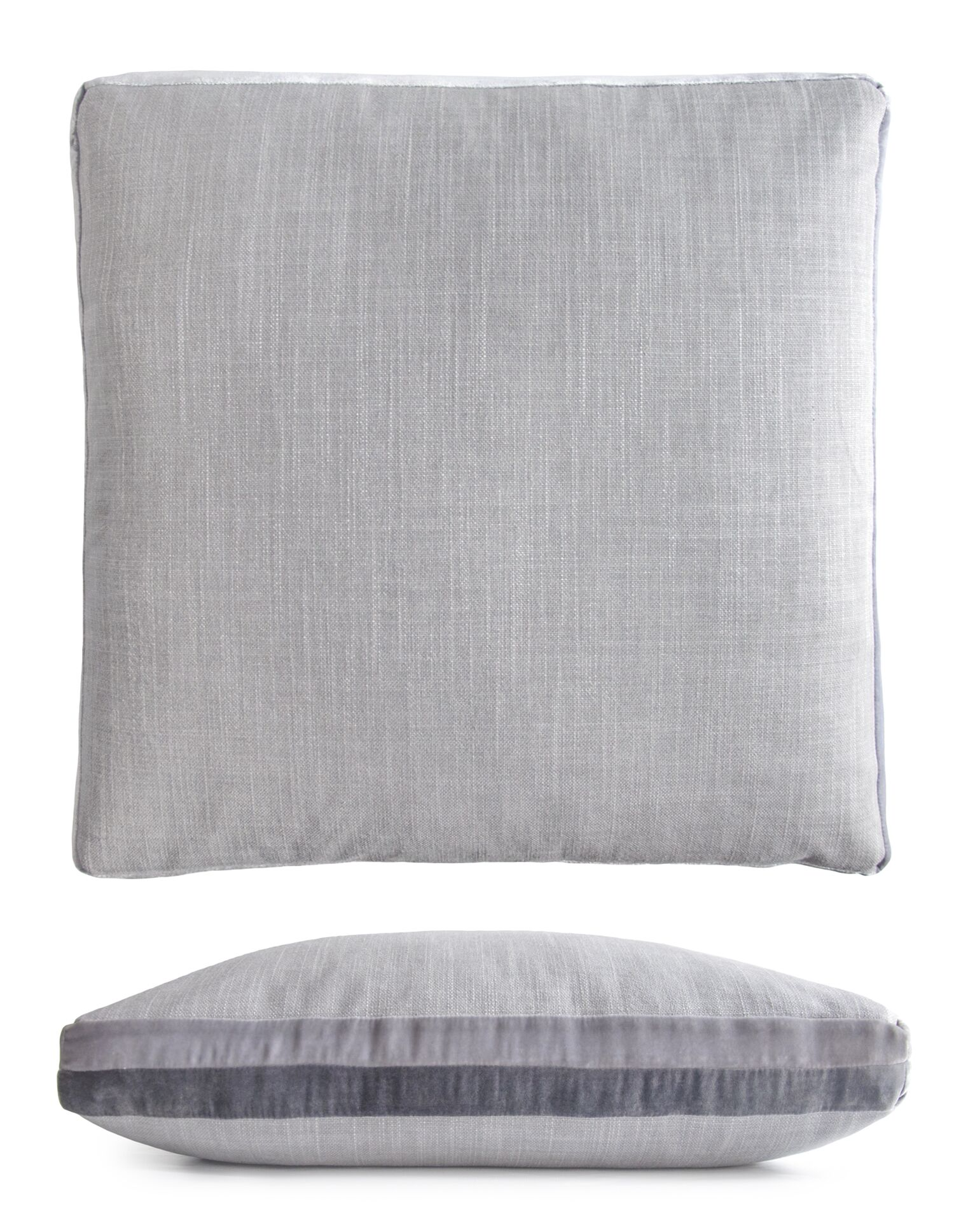 Double Tuxedo Pillow Color: Gray