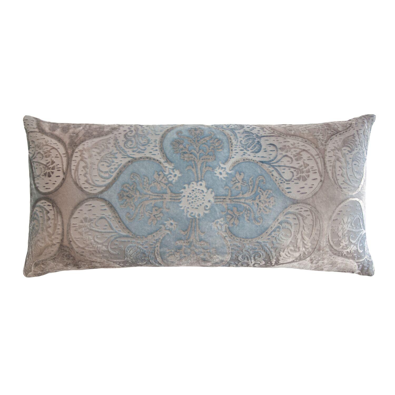 Persian Velvet Lumbar Pillow Size: 12