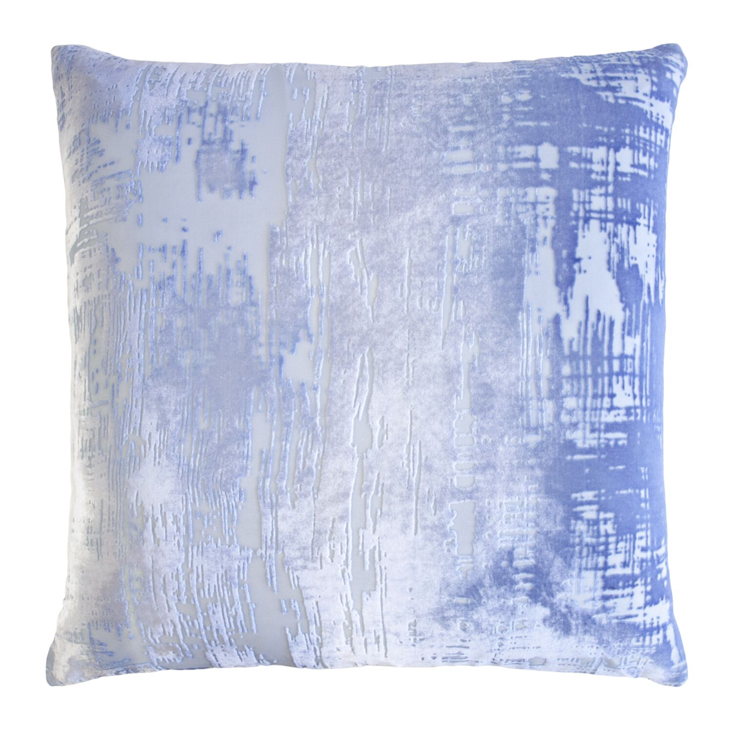 Brushstroke Velvet Throw Pillow Color: Lapis