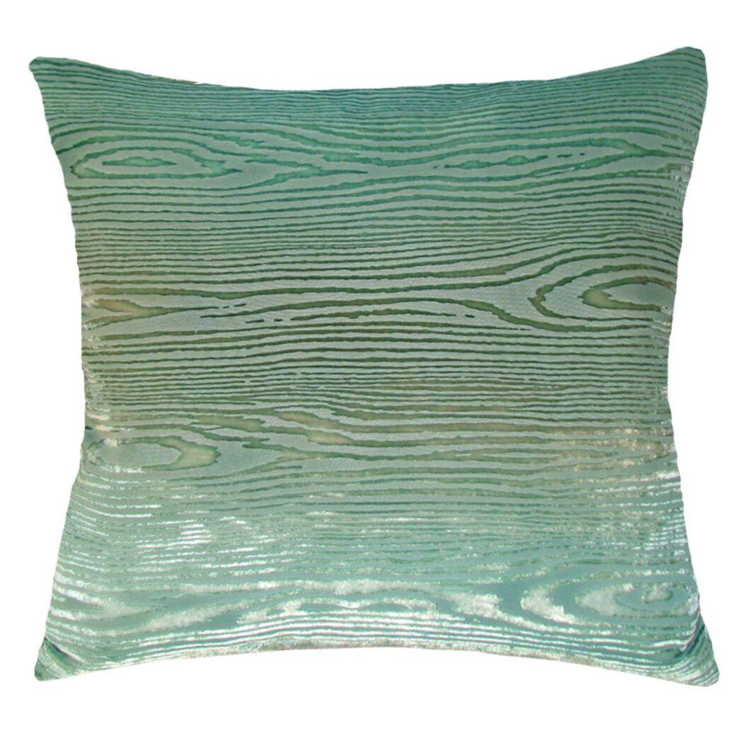 Woodgrain Velvet Throw Pillow Color: Celadon, Size: 18'' H x 18'' W x 4'' D