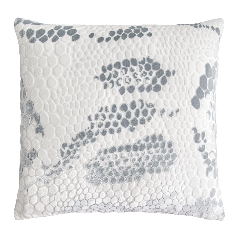 Snakeskin Throw Pillow Color: White