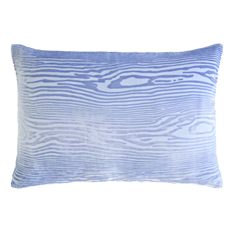 Woodgrain Velvet Lumbar Pillow Color: Lapis, Size: 14'' H x 20'' W x 3'' D