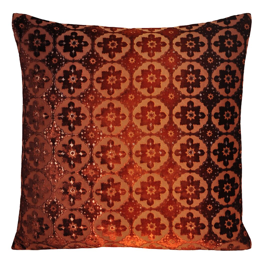 Small Moroccan Velvet Pillow Size: 22'' H x 22'' W x 3'' D, Color: Golden Brown