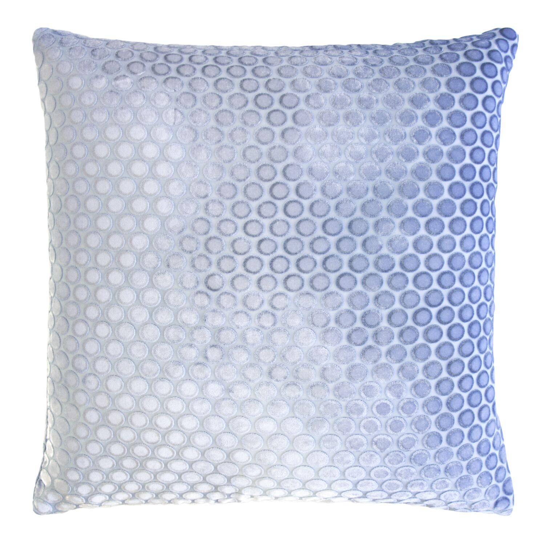 Dots Velvet Pillow Size: 22'' H x 22'' W x 3'' D, Color: Lapis