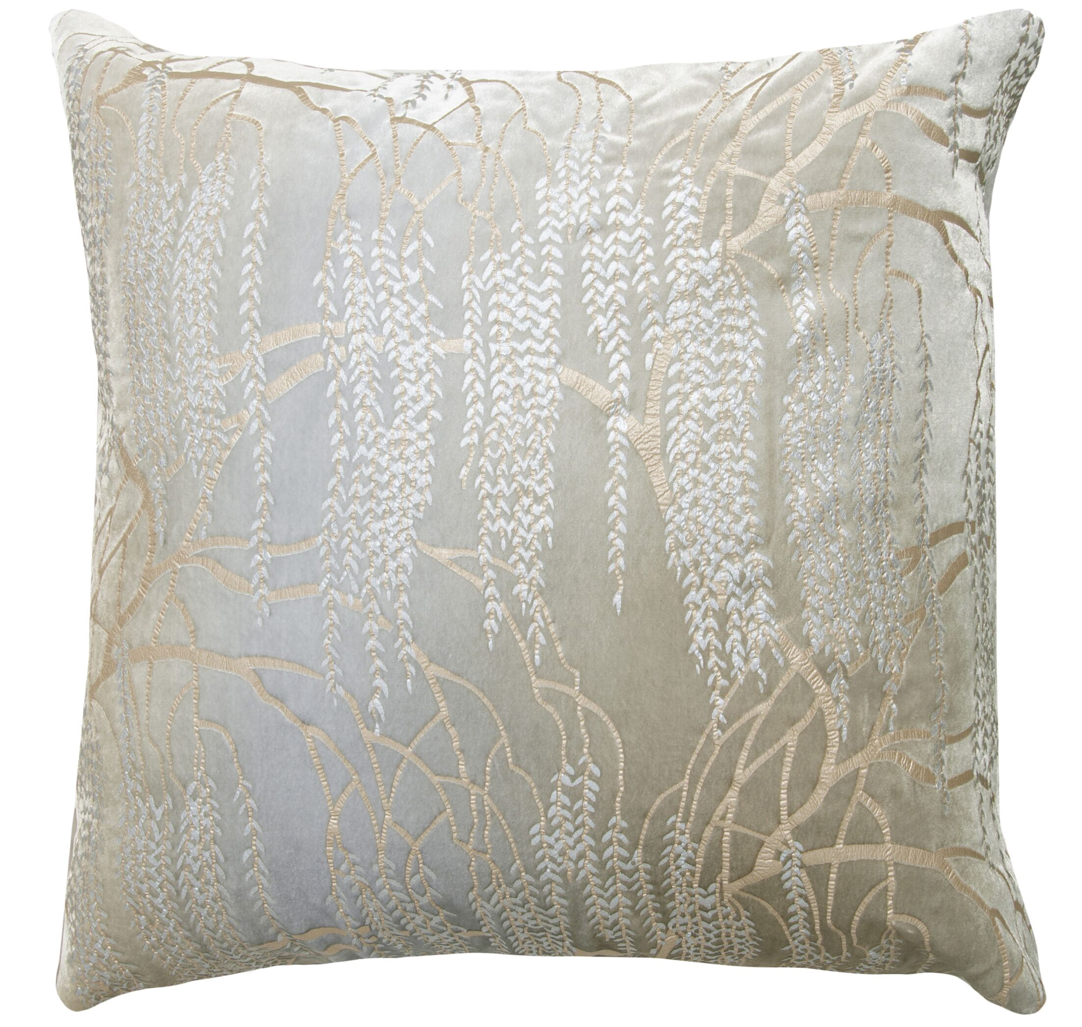 Willow Throw Pillow Size: 22'' H x 22'' W x 3'' D, Color: Nickel