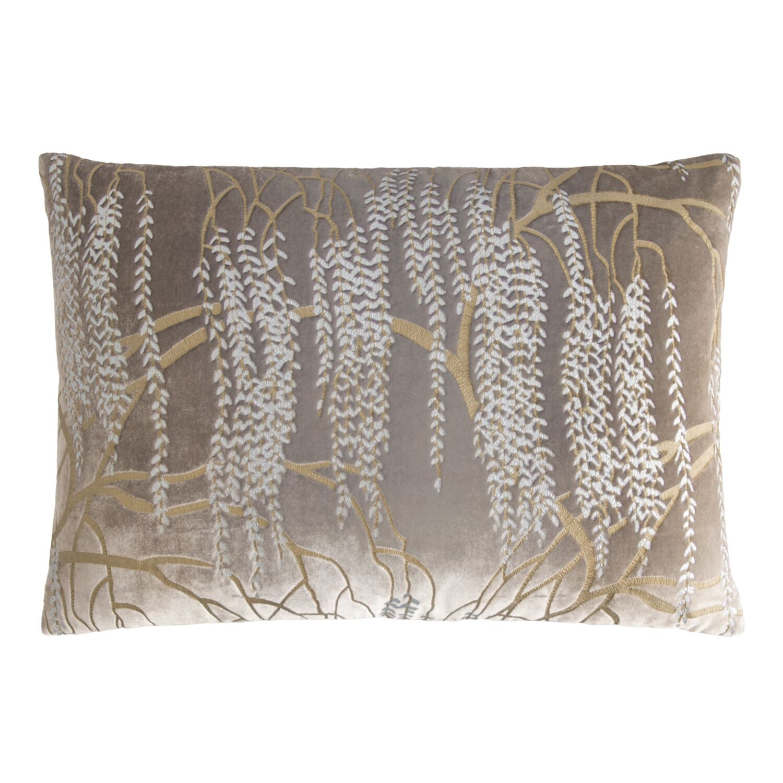 Willow Metallic Velvet Lumbar Pillow Color: Coyote