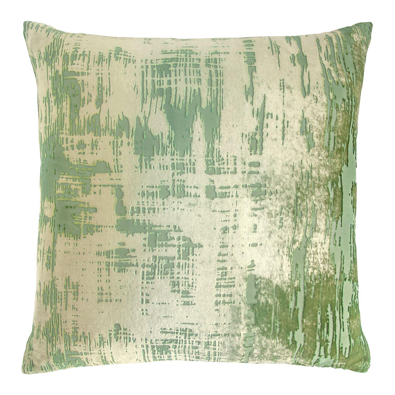 Brushstroke Velvet Throw Pillow Color: Grass