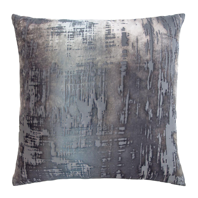 Brushstroke Velvet Throw Pillow Color: Dusk