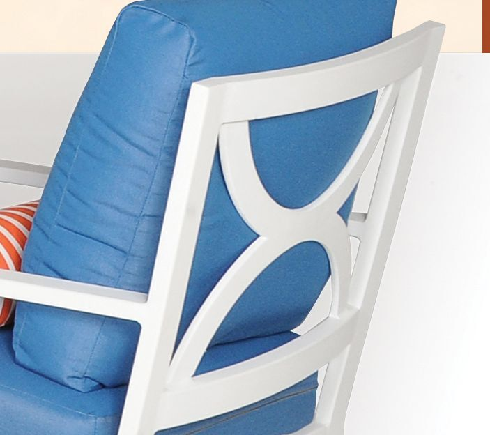 Verona 7 Piece Dining Set with Cushions Finish: White