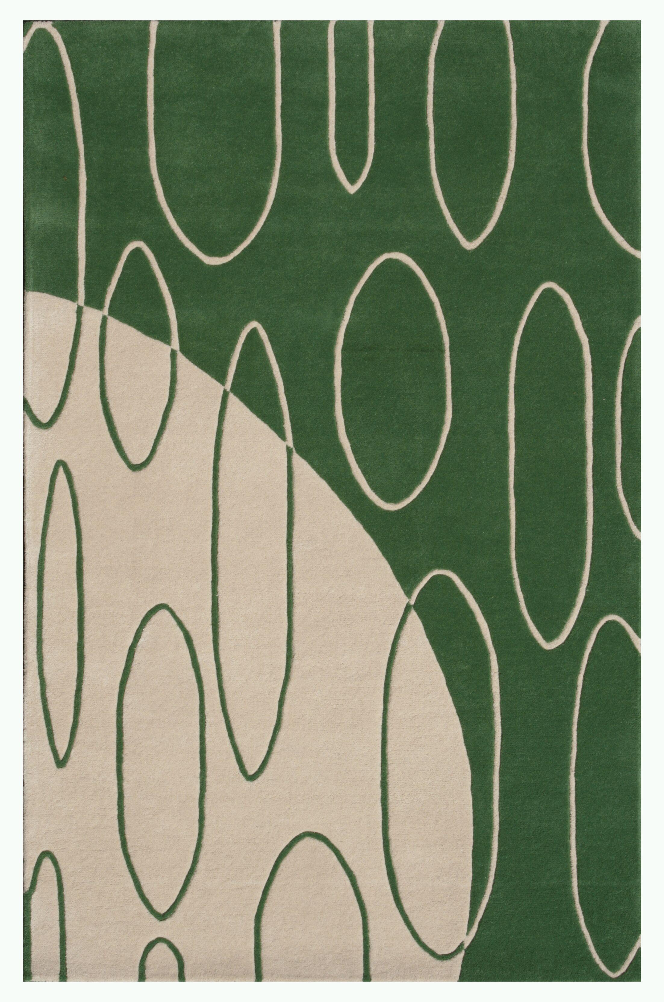 Aria Green Shag Area Rug Rug Size: 5' x 7'6