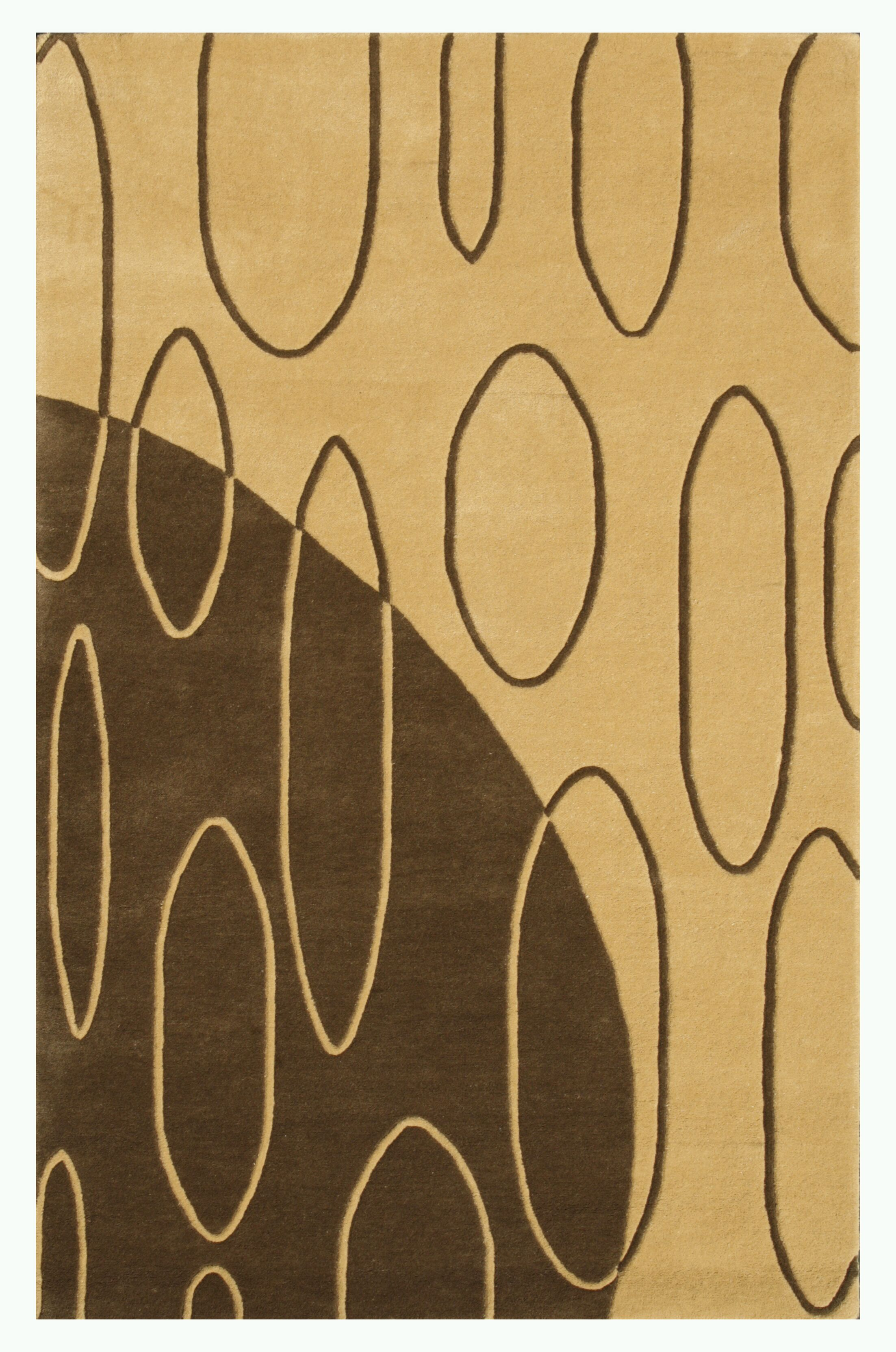 Aria Light Gold Shag Area Rug Rug Size: 7'9