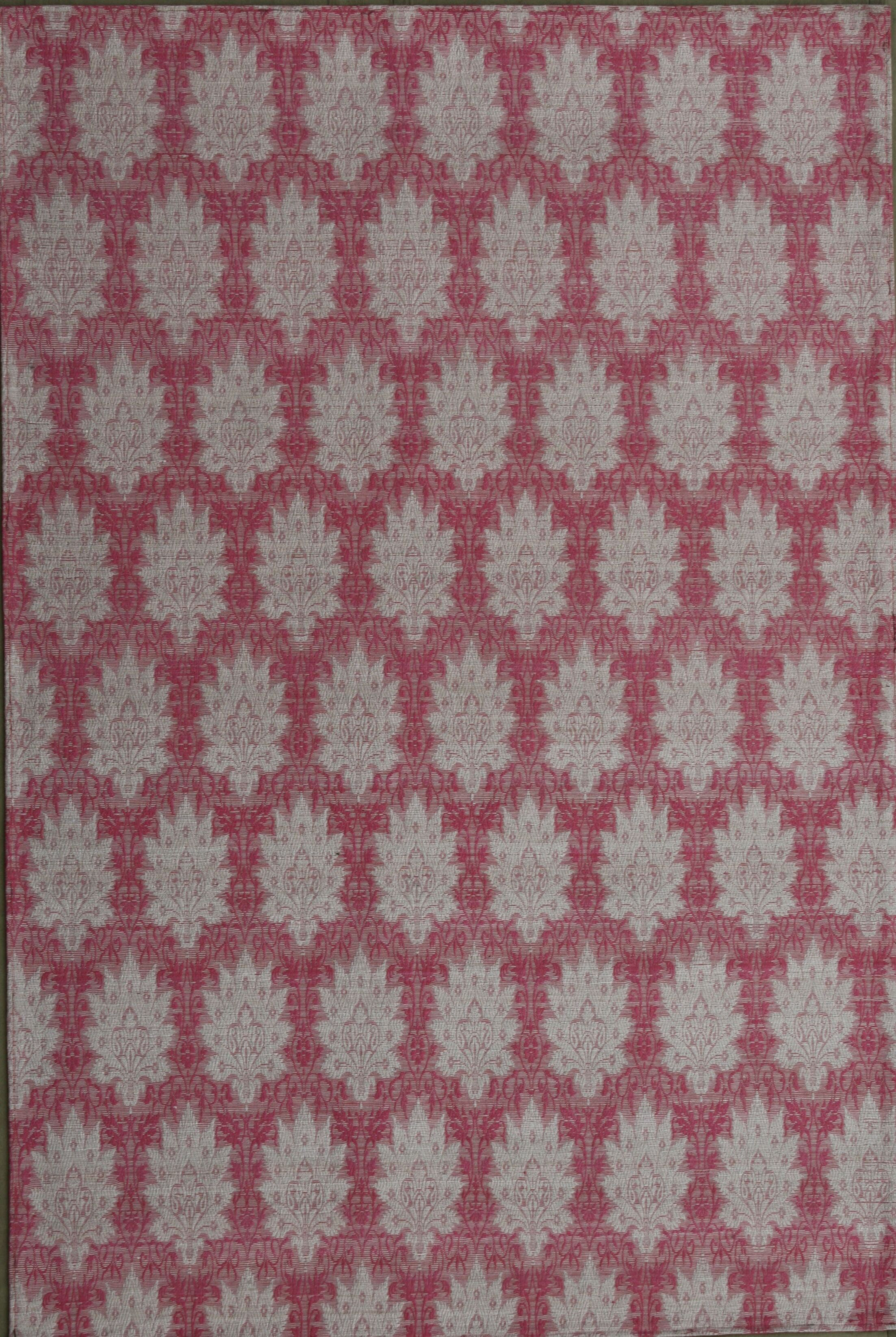 Electra Hand-Woven Pink/White Area Rug Rug Size: 7'9