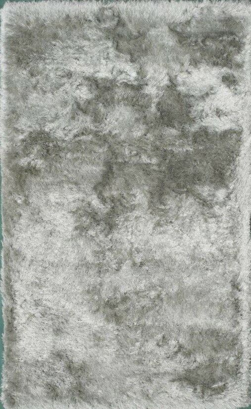 Crystal Silver Area Rug Rug Size: 5' x 8'
