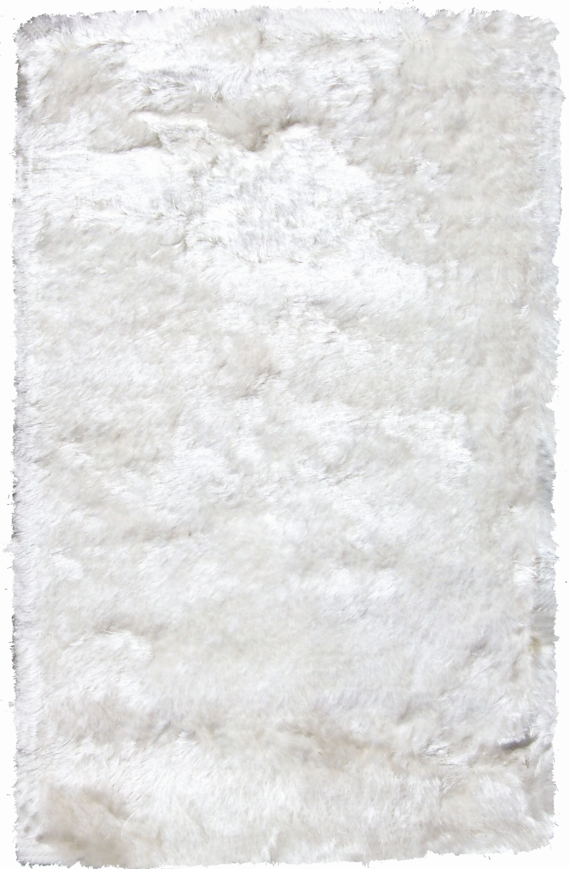 Crystal Solid White Rug Rug Size: 8' x 11'
