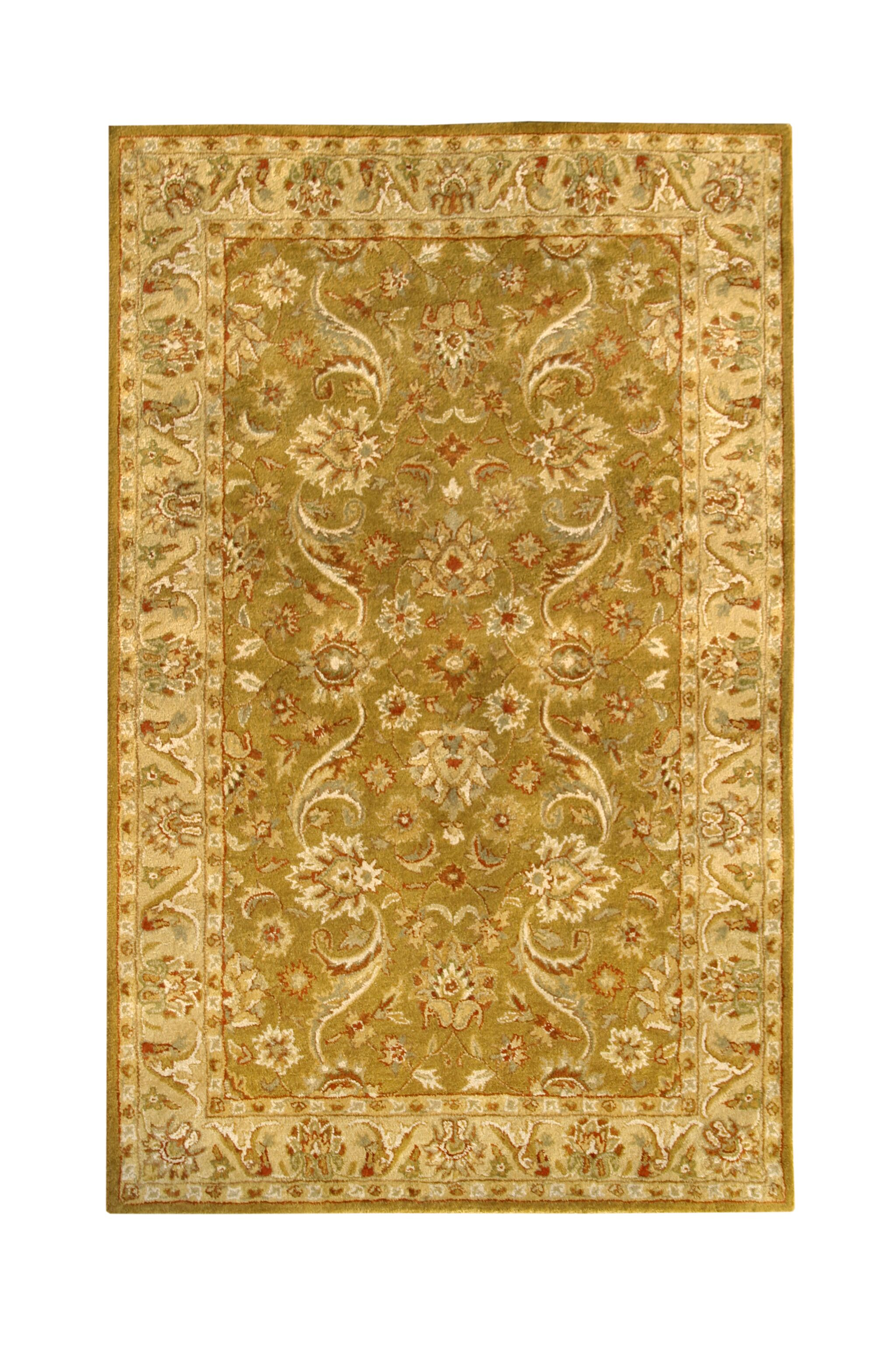 Harmony Gold Floral Area Rug Rug Size: 5' x 8'