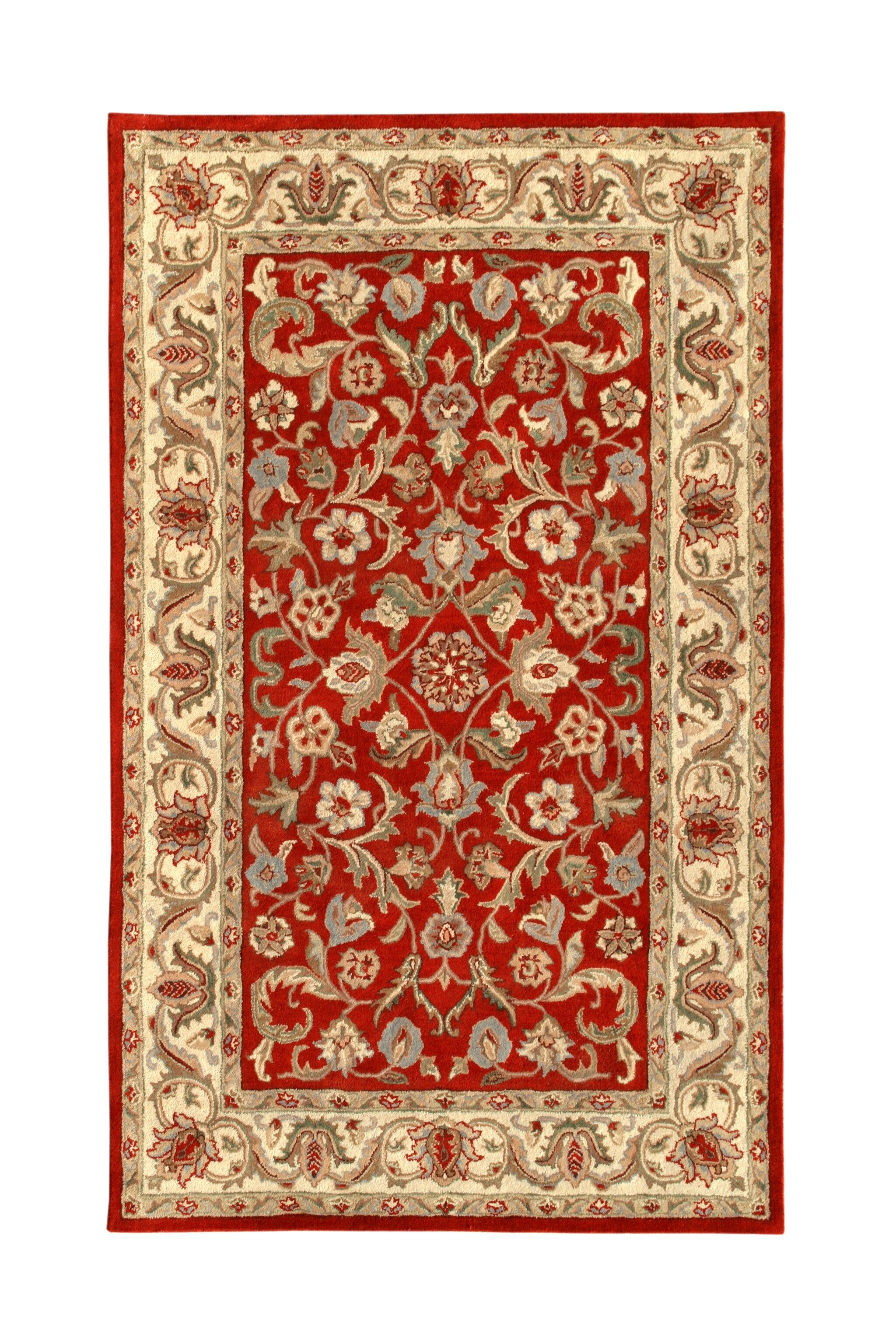 Harmony Red/Beige Floral Area Rug Rug Size: 8' x 11'