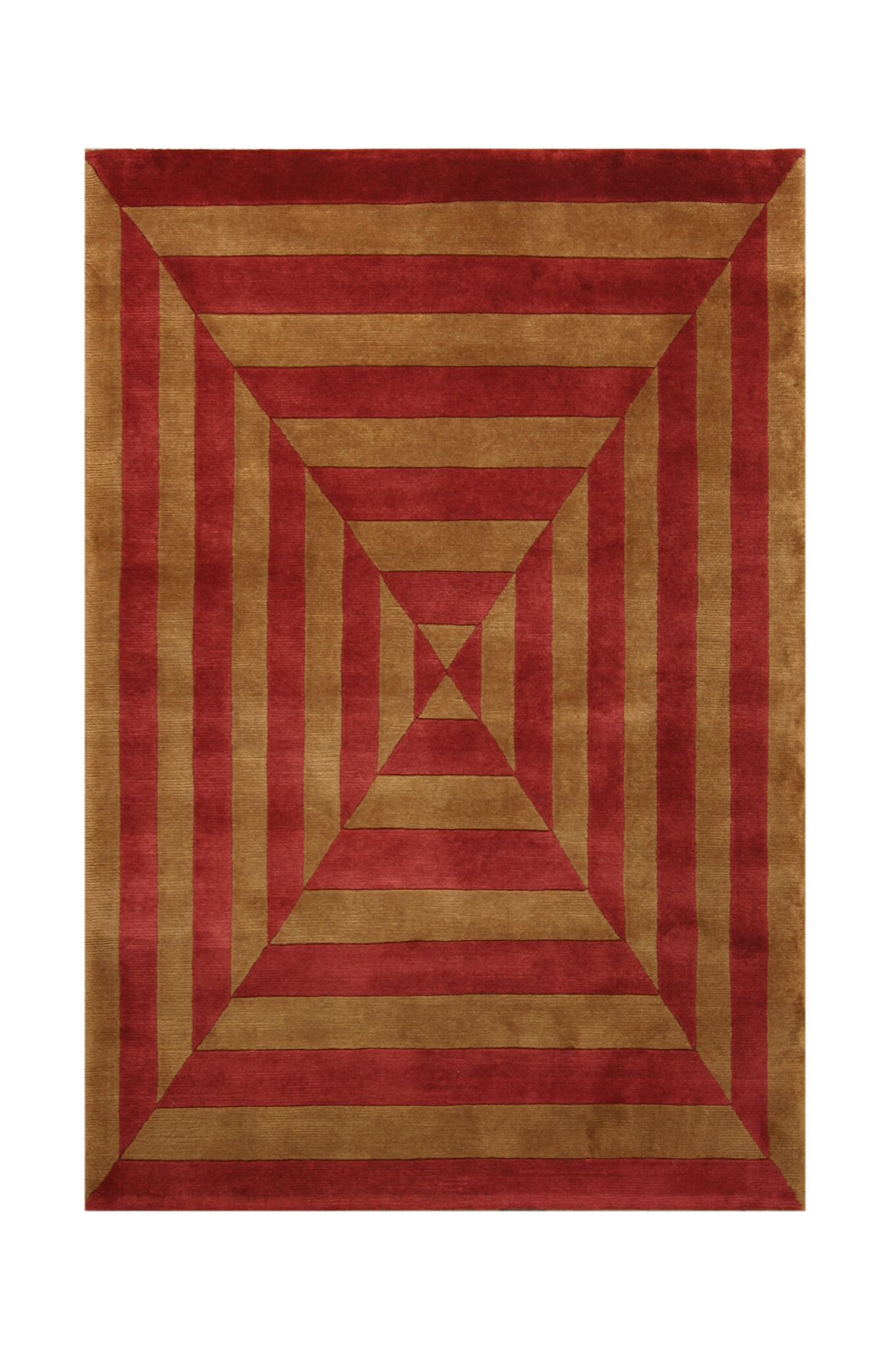 Noble Gold/Rust Area Rug Rug Size: 4' x 6'