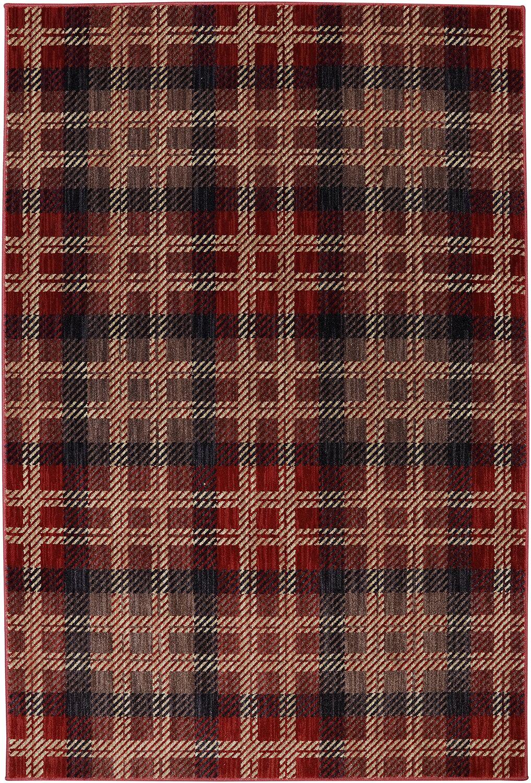 Dryden Billings Crimson Area Rug Rug Size: Rectangle 5'3