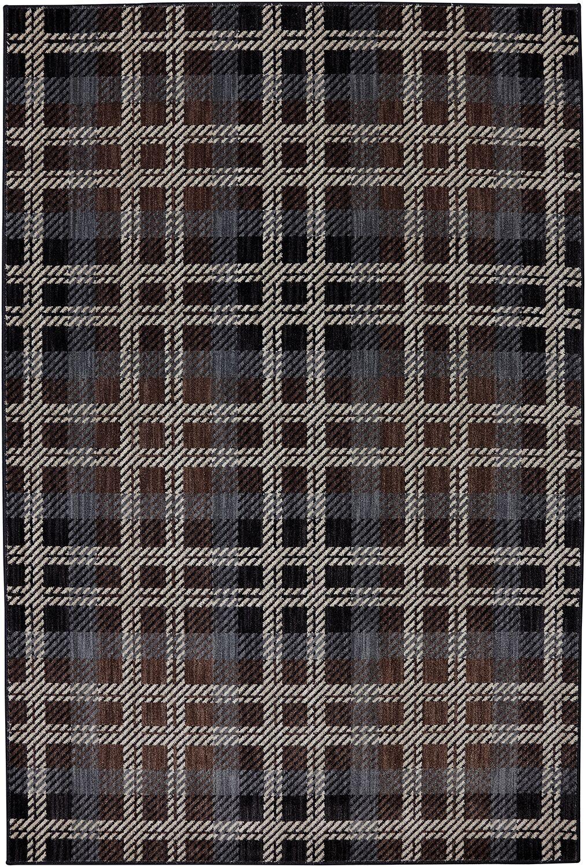Dryden Billings Black Area Rug Rug Size: Rectangle 5'3