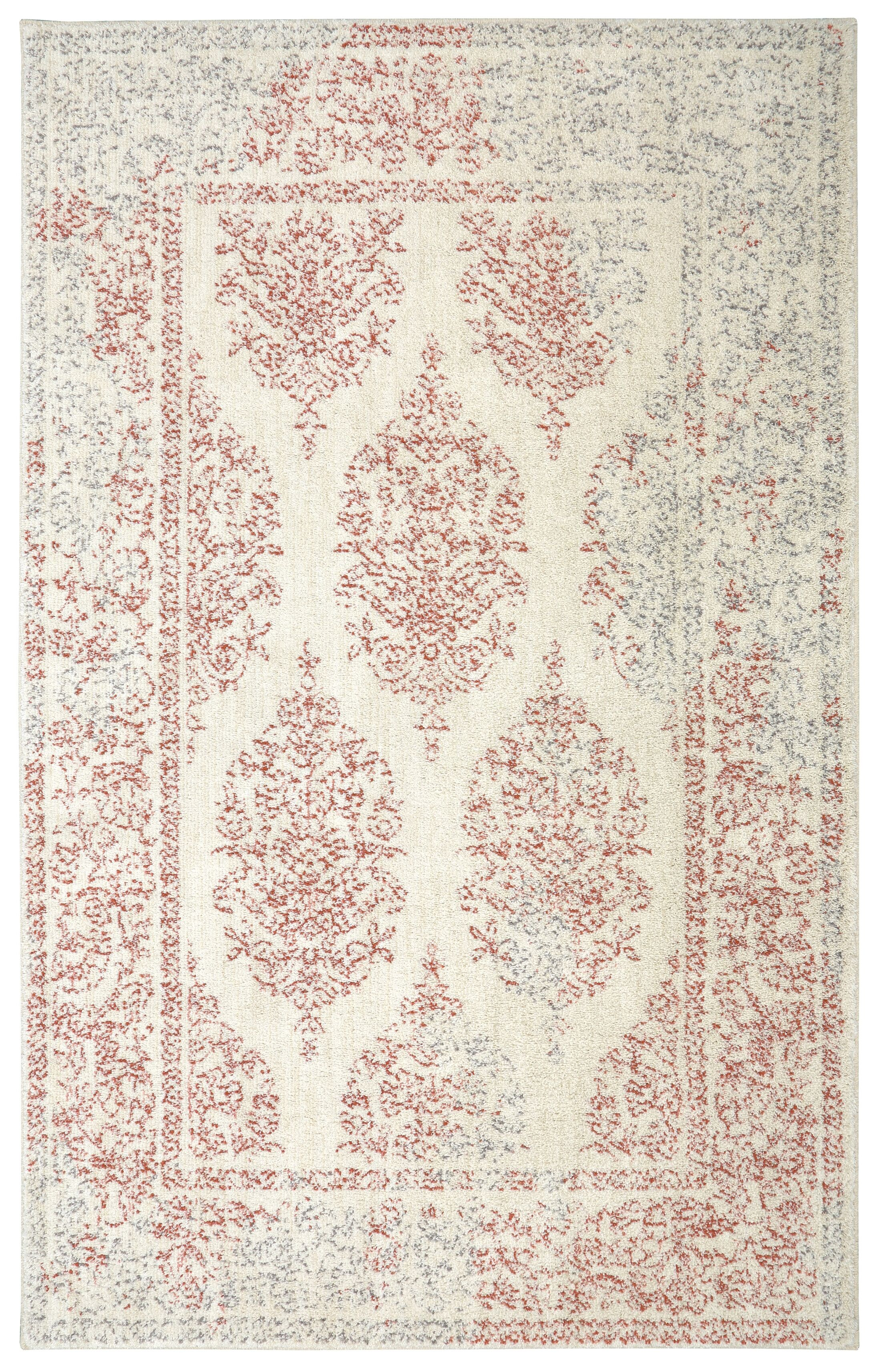 Rolla Coral/Beige Area Rug Rug Size: Rectangle 5' x 8'