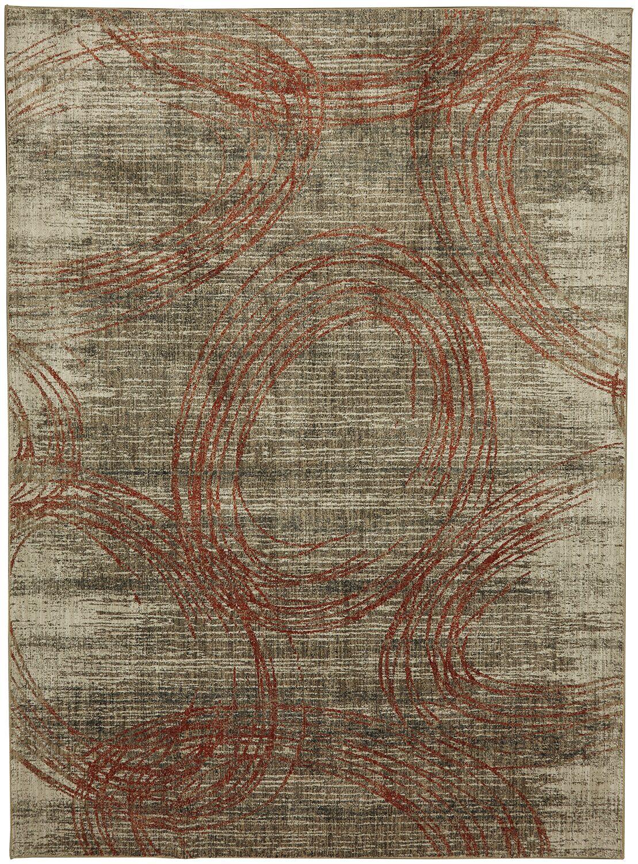 Metropolitan Amora Beige/Gray Area Rug Rug Size: Rectangle 5'3