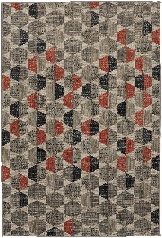 Metropolitan Taupe/Gray Area Rug Rug Size: Rectangle 9'6