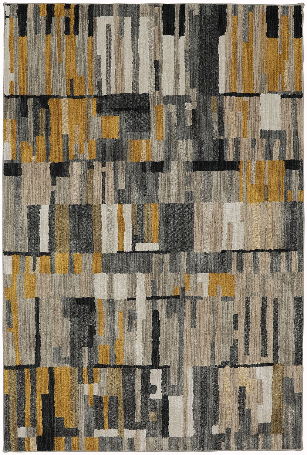 Muse Mustard Yellow Area Rug Rug Size: Rectangle 5'3