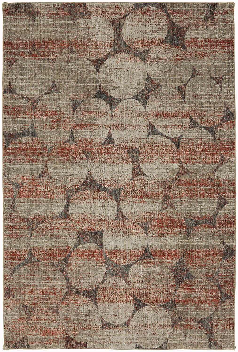 Metropolitan Red/Gray Area Rug Rug Size: Rectangle 5'3
