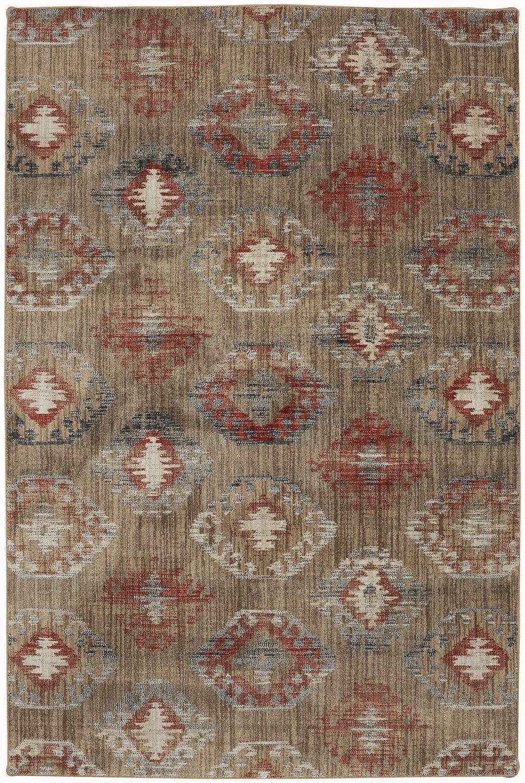 Metropolitan Beige/Red Area Rug Rug Size: Rectangle 8' x 11'