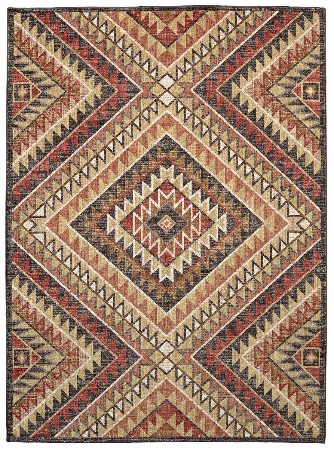 Destinations South Pass Charcoal/Gold Area Rug Rug Size: Rectangle 9'6