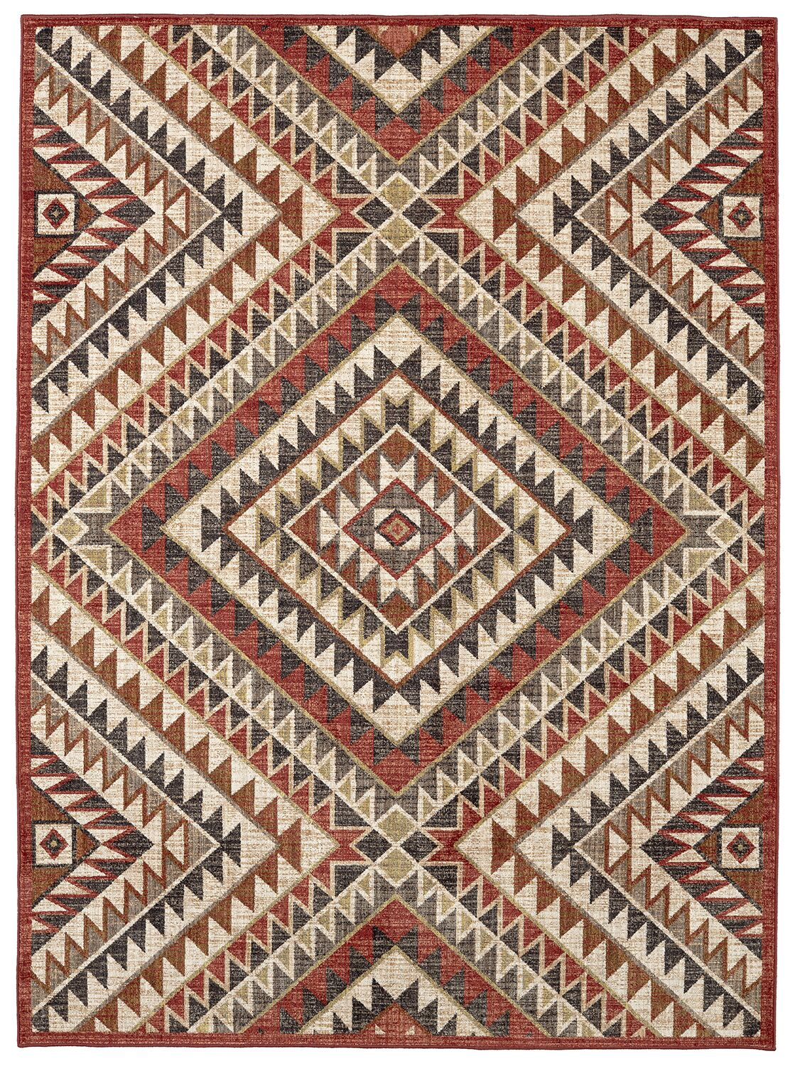 Destinations South Pass Brown/Gold Area Rug Rug Size: Rectangle 9'6