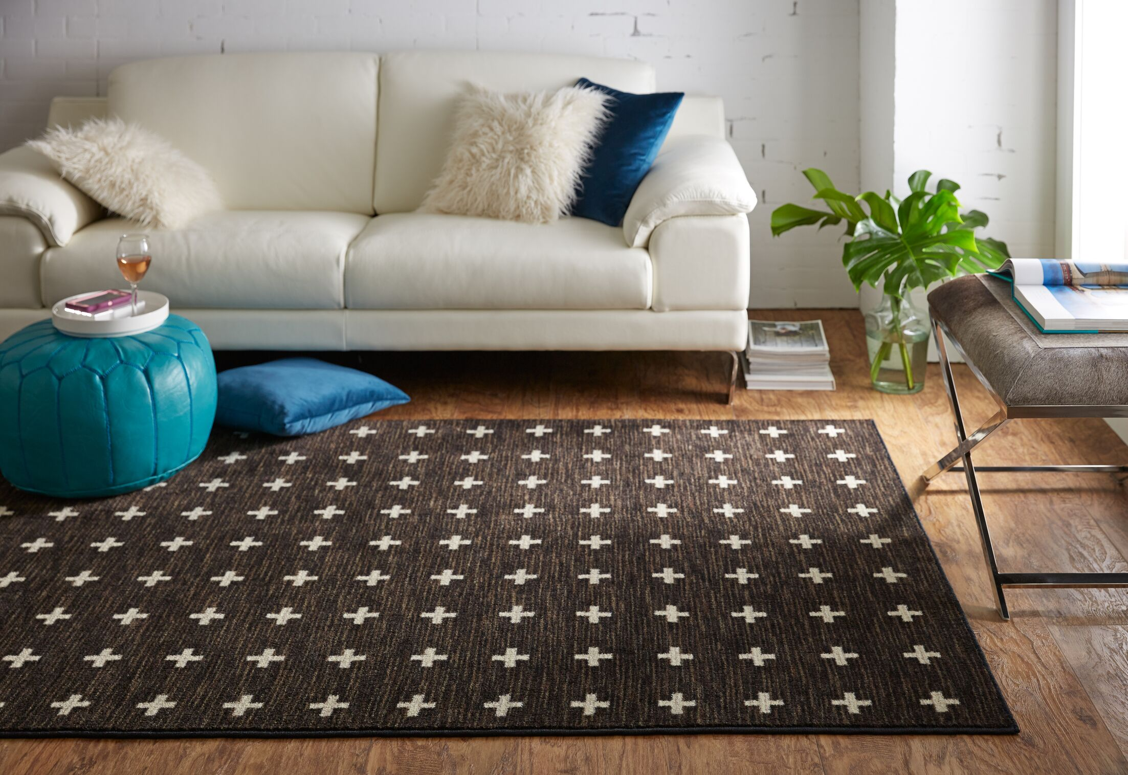 Maloree Brown Area Rug Rug Size: Rectangle 5' x 8'