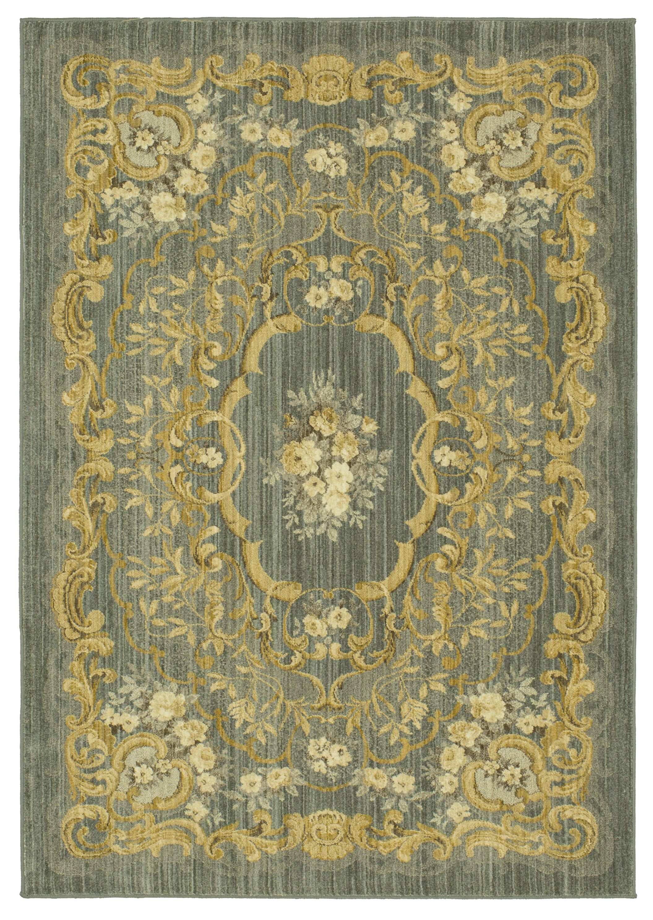 Bluffton Green/Yellow Area Rug Rug Size: Rectangle 5'3