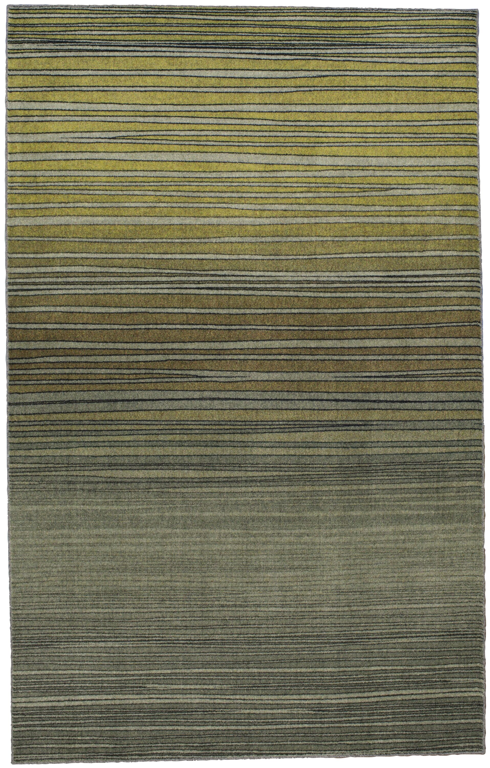 Clement Horizon Line Green Area Rug Rug Size: Rectangle 8' x 10'