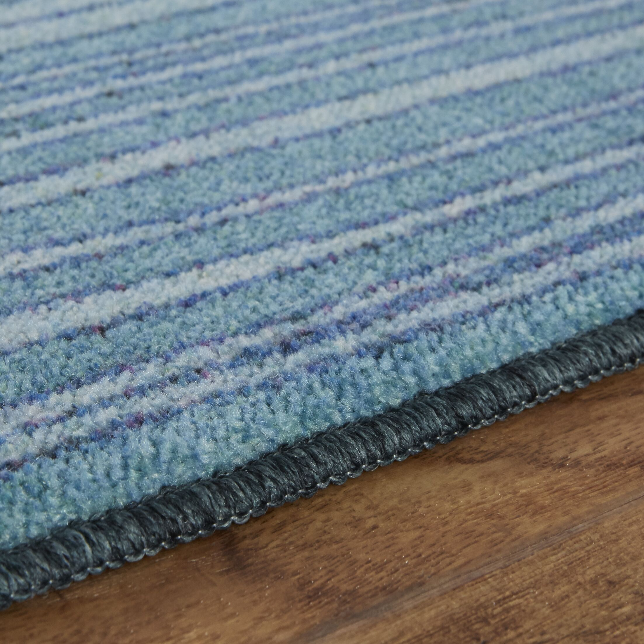 Clement Horizon Line Blue/Green Area Rug Rug Size: Rectangle 7'6