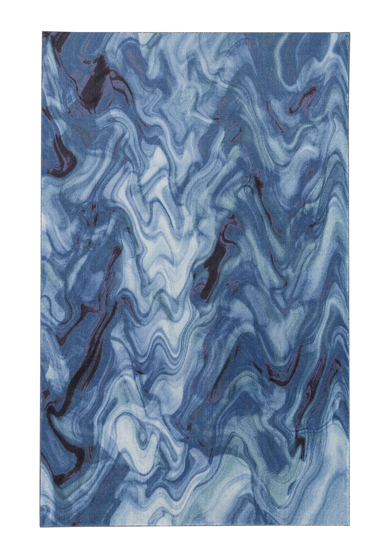 Pauling Water Blue Area Rug Rug Size: Rectangle 5' x 8'