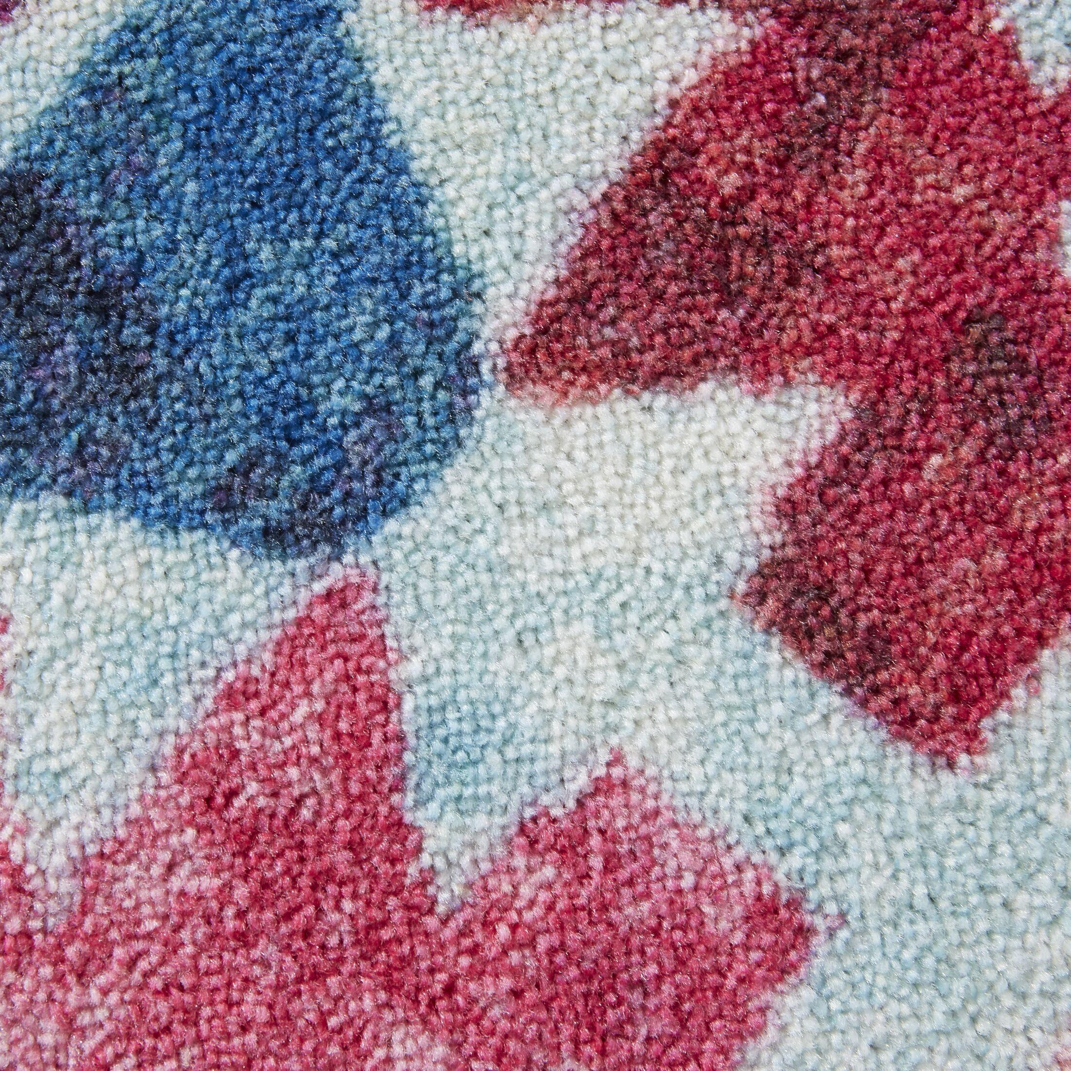 Dario Aqua/Blue/Pink Area Rug Rug Size: Rectangle 8' x 10'