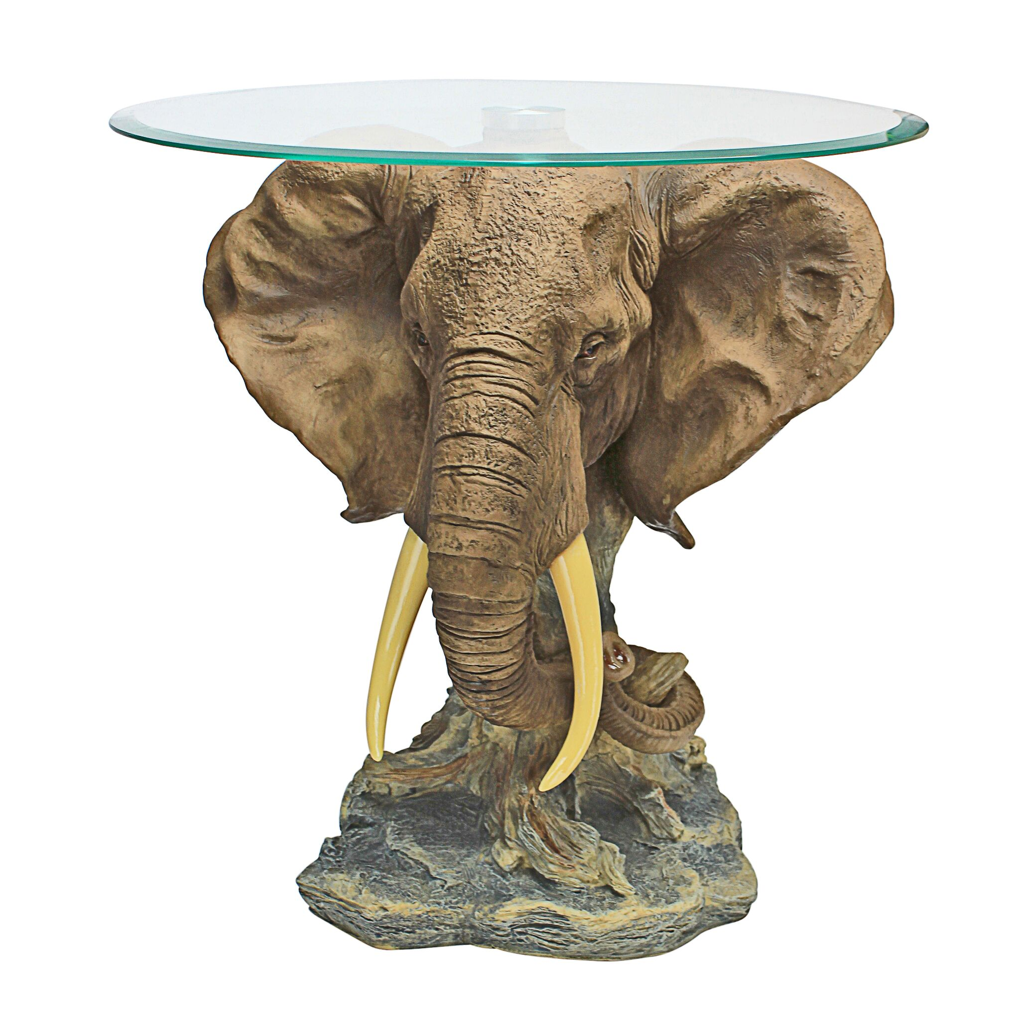 Lord Earl Houghton's Trophy Elephant End Table