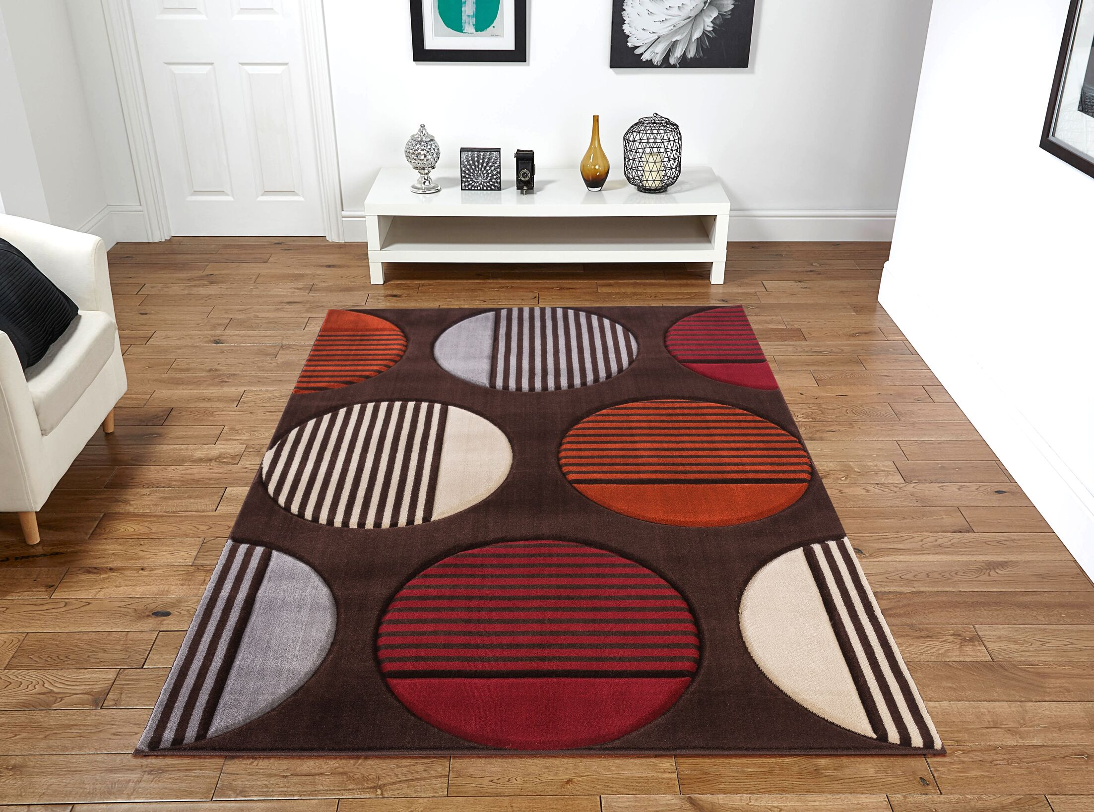 Yeung Brown Area Rug Rug Size: Rectangle 8' x 11'