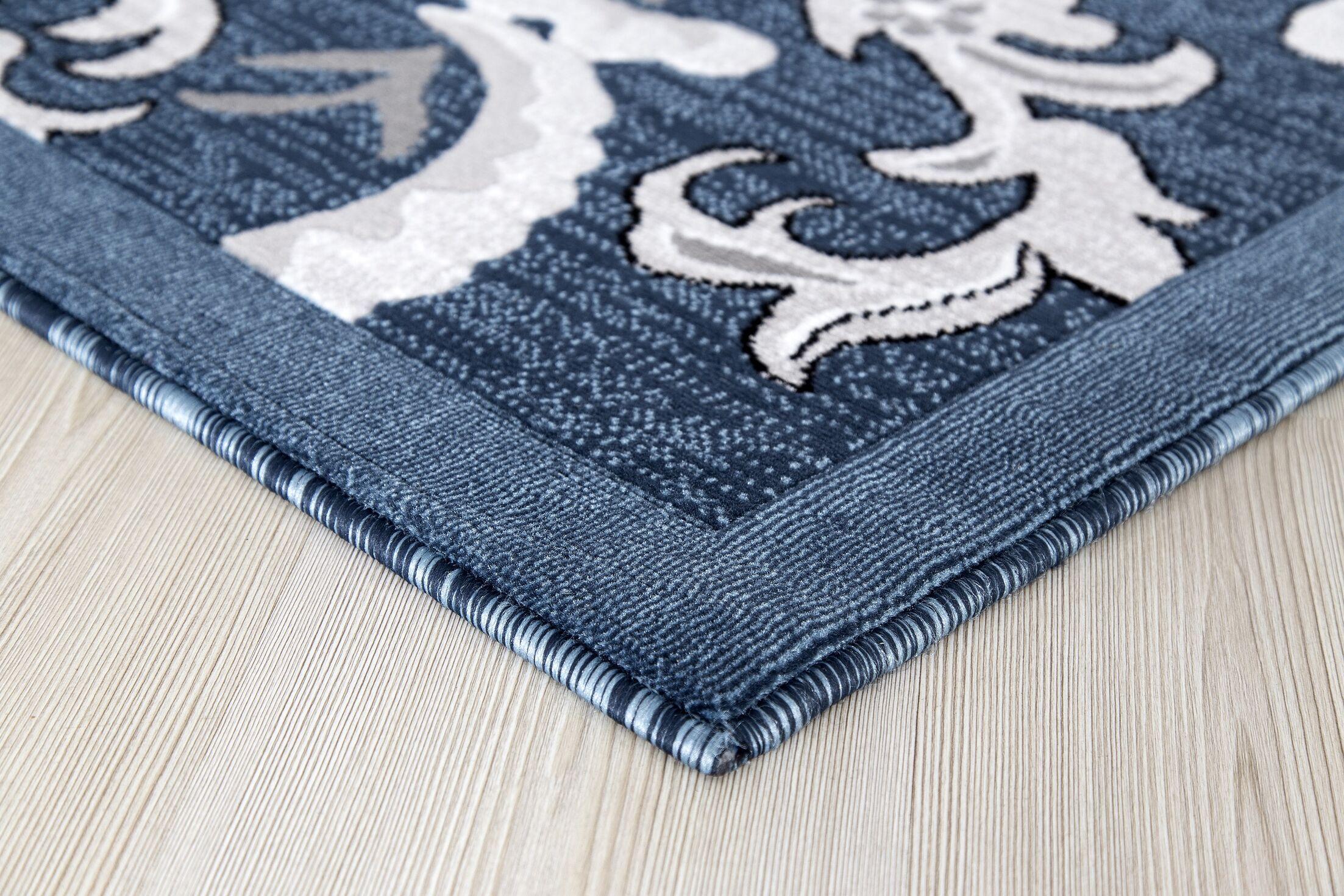 Risch Dark Blue Area Rug Rug Size: Rectangle 5' x 8'