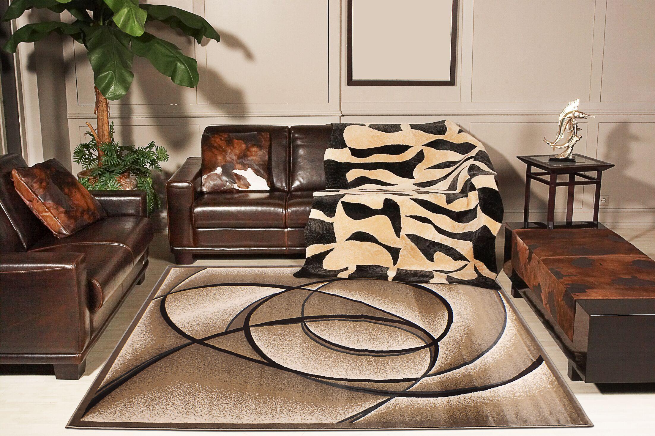 Dacian Beige Area Rug Rug Size: 8' x 11'