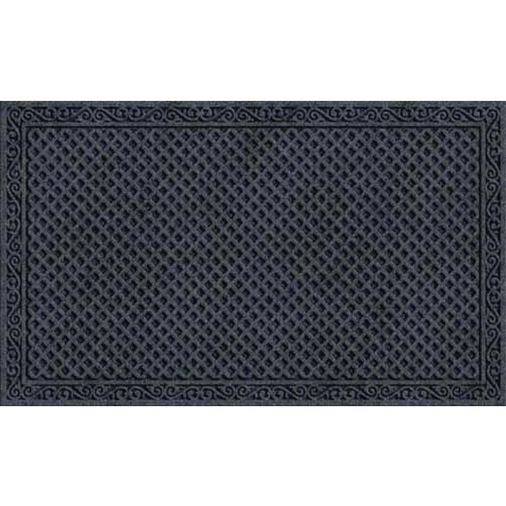 Lasseter Iron Lattice Doormat Color: Onyx