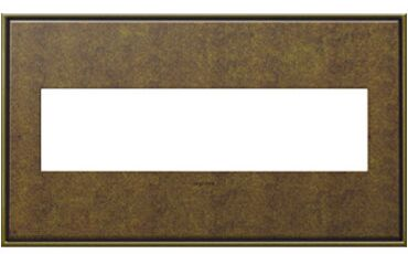 adorne 4-Gang Wall Plate (Set of 4) Finish: Aged Brass