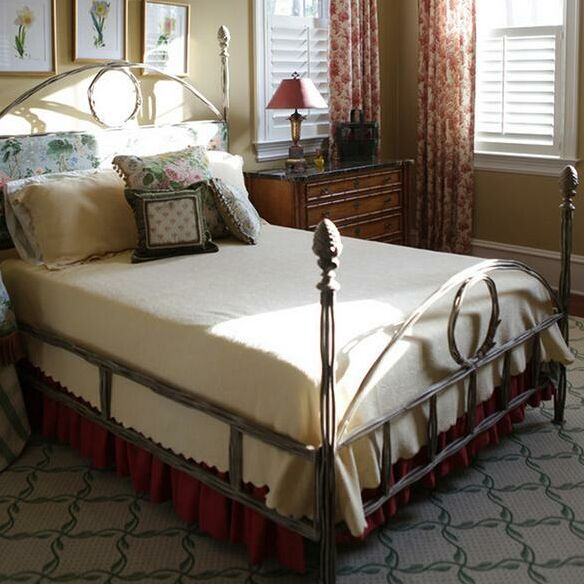 Queen Upholstered Four Poster Bed