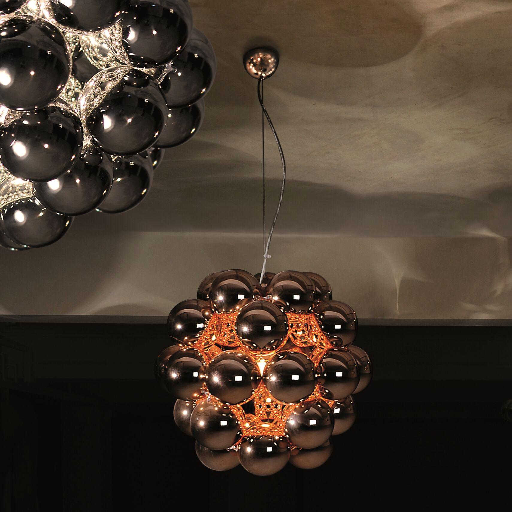 Beads Penta 1-Light Geometric Pendant Finish: Gunmetal