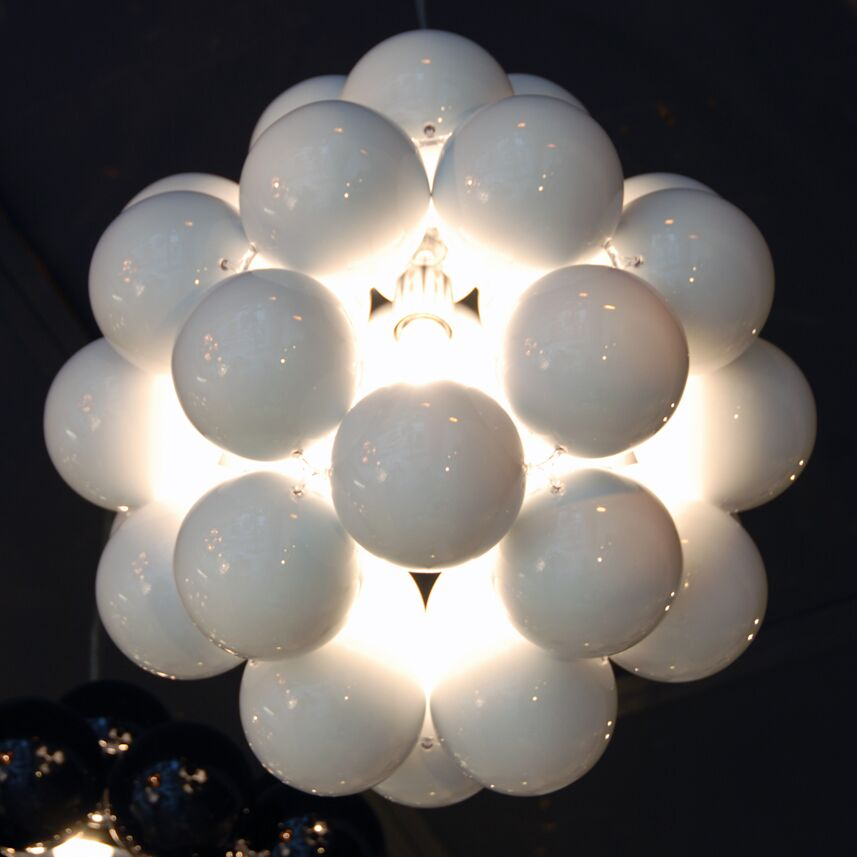 Beads Penta 1-Light Geometric Pendant Finish: White