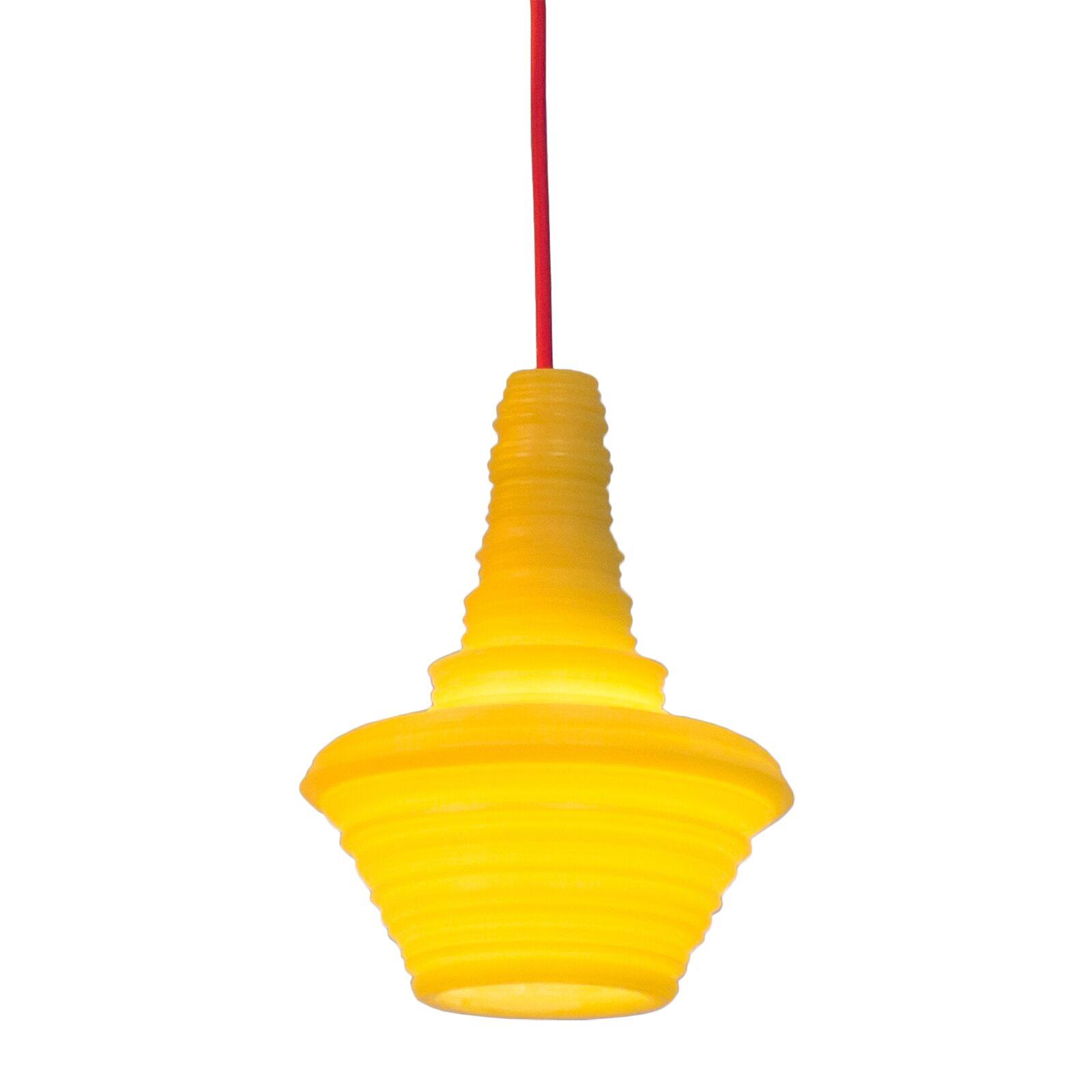 Stupa 1-Light Geometric Pendant Color: Yellow