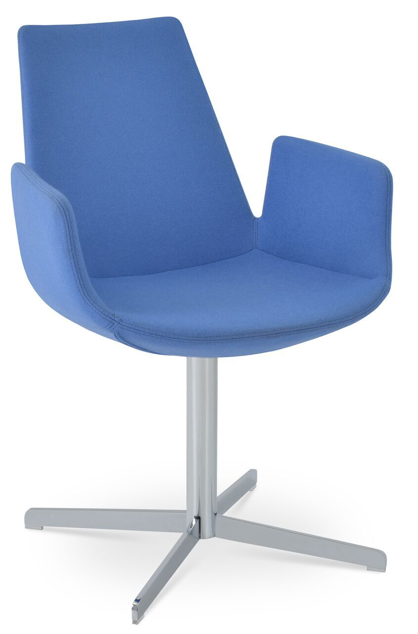 Eiffel Upholstered Dining Chair Leg Color: Matte Brushed Nickel, Upholstery Color: PPM Black