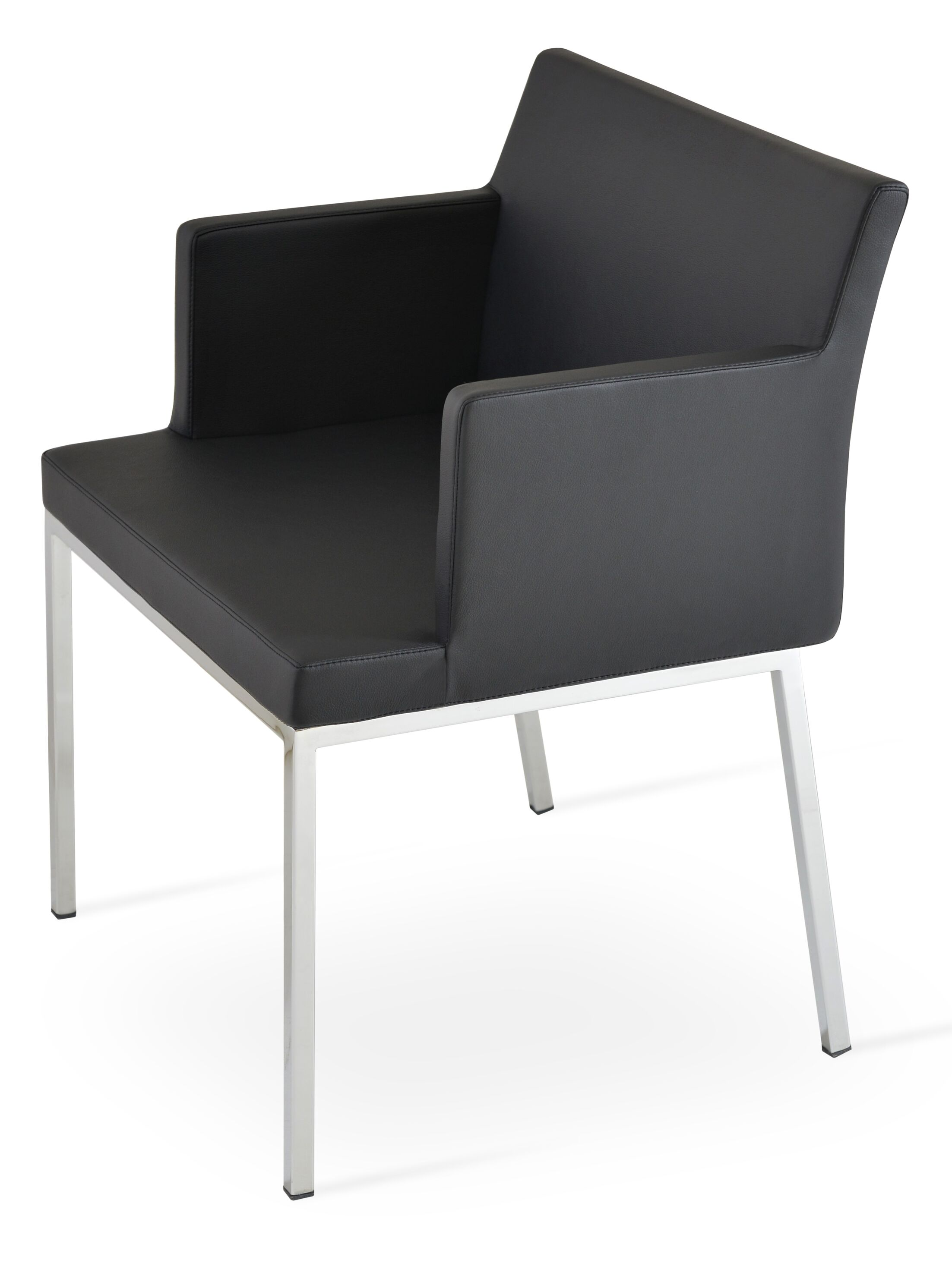 Parma Arm Chair Upholstery Type: Leatherette - Light Gray