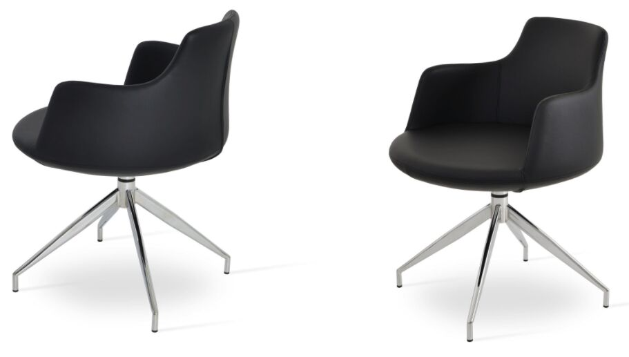 Dervish Spider Arm Chair Upholstery Type / Color: Wool - Dark Gray